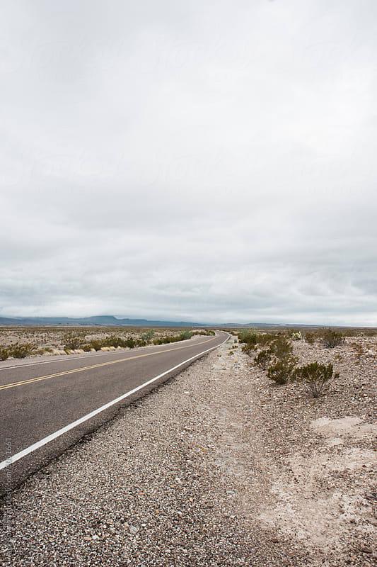 Empty Road In The Desert by Jack Sorokin for Stocksy United