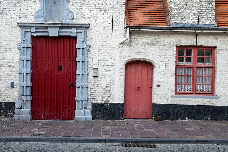 Houses in Bruges, Belgium by Jeff Wasserman for Stocksy United
