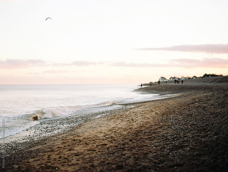 Aldeburgh beach at sunset by Kirstin Mckee for Stocksy United