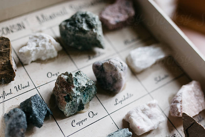 Ore samples in a box by Gabriel (Gabi) Bucataru for Stocksy United