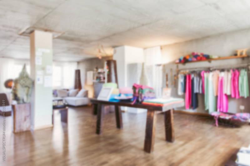 Yoga Shop Defocused by VISUALSPECTRUM for Stocksy United