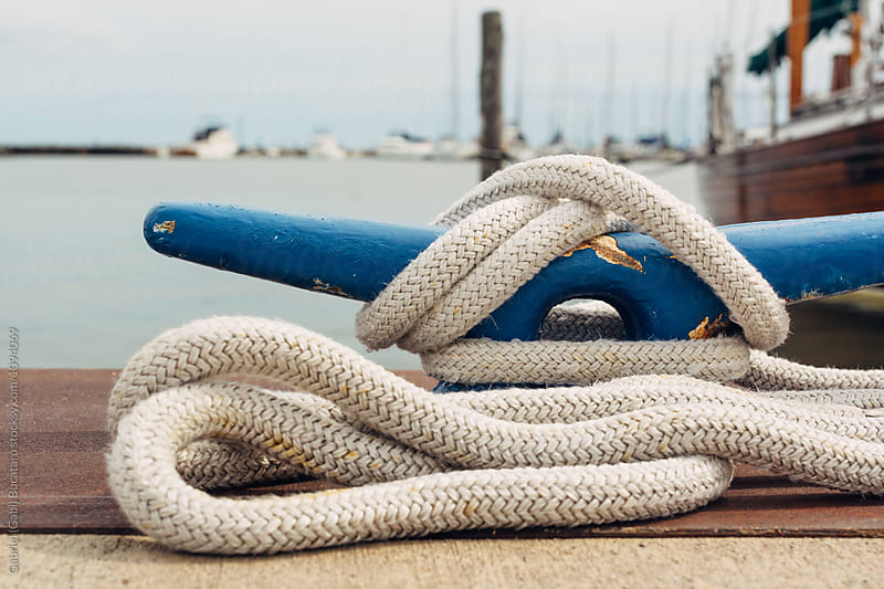 Mooring (rope) on a ship dock by Gabriel (Gabi) Bucataru for Stocksy United
