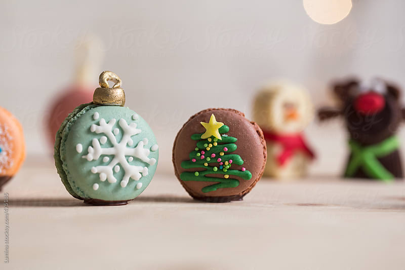Christmas Macarons by Lumina for Stocksy United