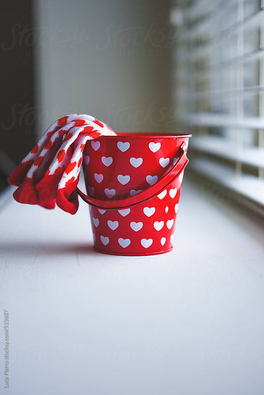 Valentine's day bucket and socks by Luca Pierro for Stocksy United