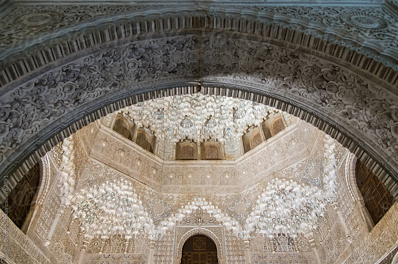 Interior of Alhambra palace, Granada, Andalusia by Bisual Studio for Stocksy United