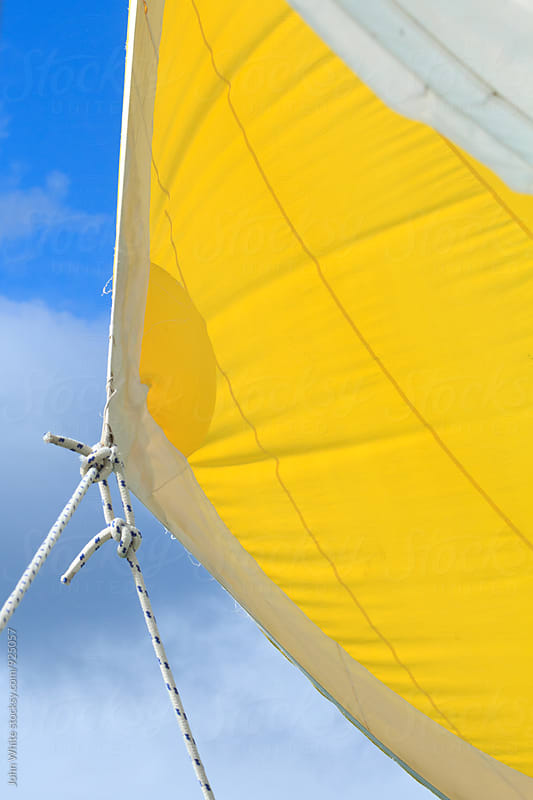 Yellow sail by John White for Stocksy United