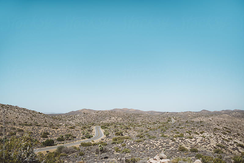 Road winding through desert by Jacki Potorke for Stocksy United