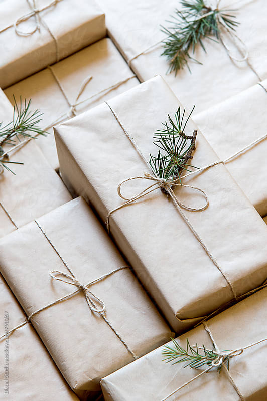 Stack of presents by Bisual Studio for Stocksy United