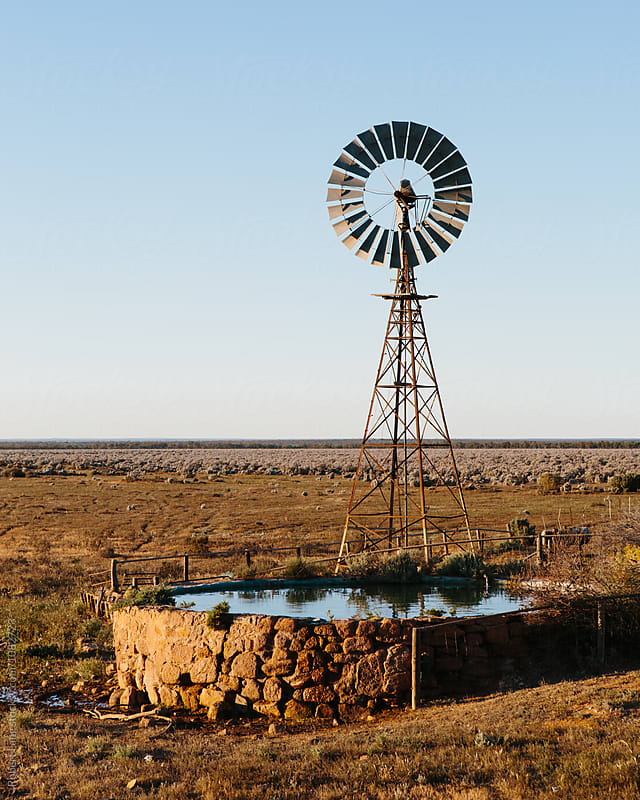 Water tank, outback rural Australia by Robert Lang for Stocksy United
