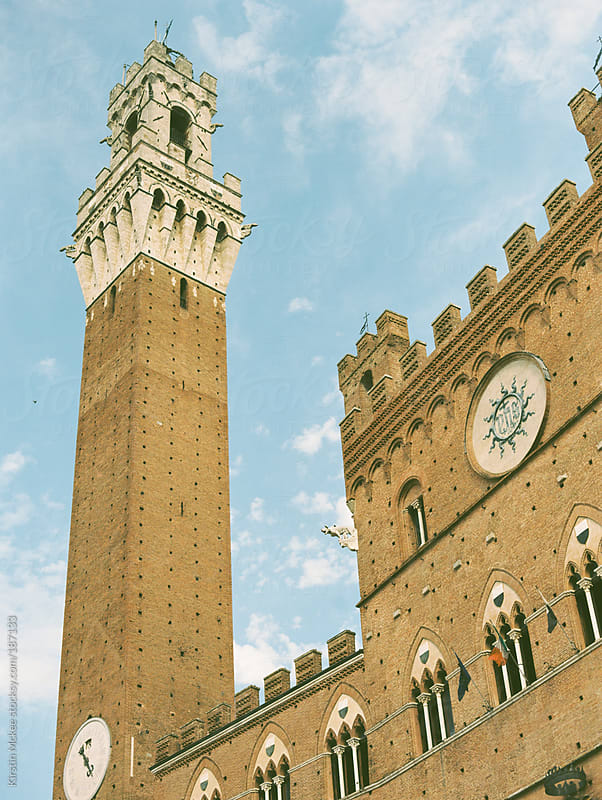 Torre del Mangia, Siena by Kirstin Mckee for Stocksy United