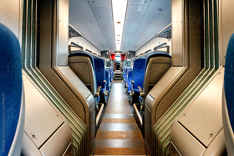 Train interior by Dimitrije Tanaskovic for Stocksy United