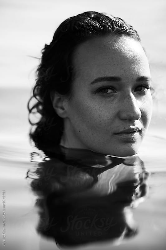 woman in the water by Vesna for Stocksy United