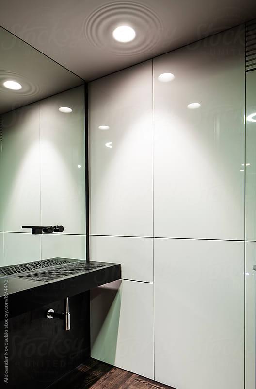 Modern toilet by Aleksandar Novoselski for Stocksy United