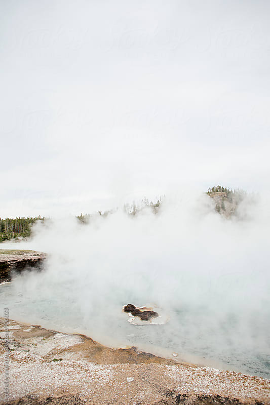 Hot spring at Yellowstone National Park by michela ravasio for Stocksy United