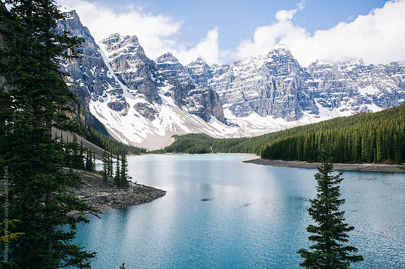 Moraine Lake by Michael Overbeck for Stocksy United