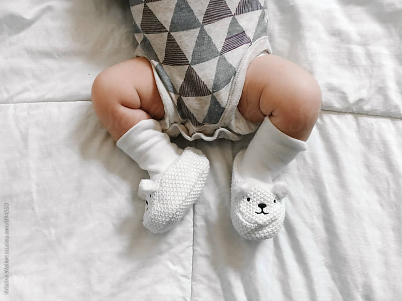 Cute Newborn Baby Feet and Legs by Kristine Weilert for Stocksy United