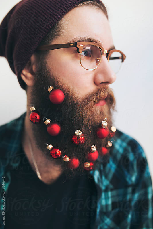 Beard Christmas Ornaments Man by Jovana Rikalo for Stocksy United