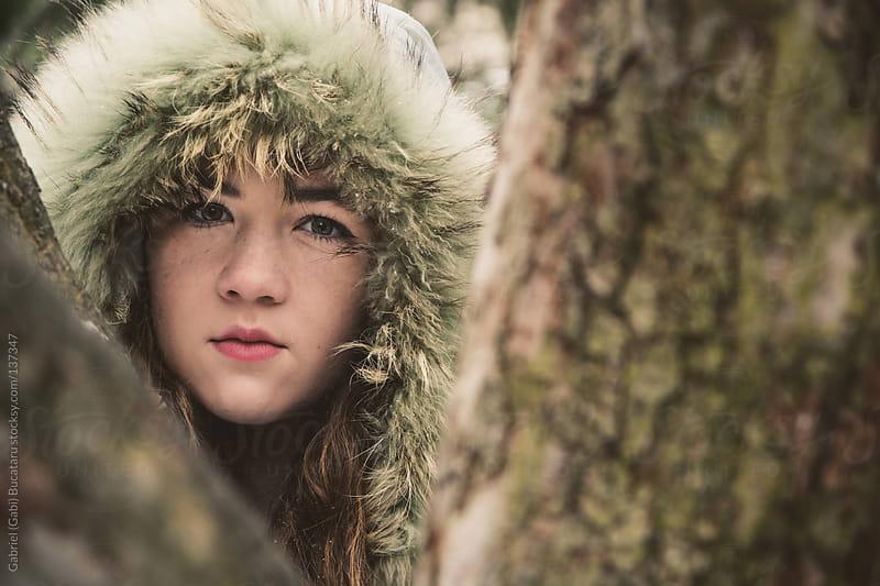 Girl with Hood by Gabriel (Gabi) Bucataru for Stocksy United