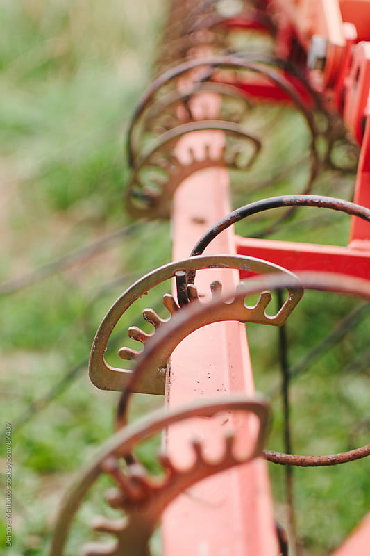 close up of old tractor attachment by Deirdre Malfatto for Stocksy United