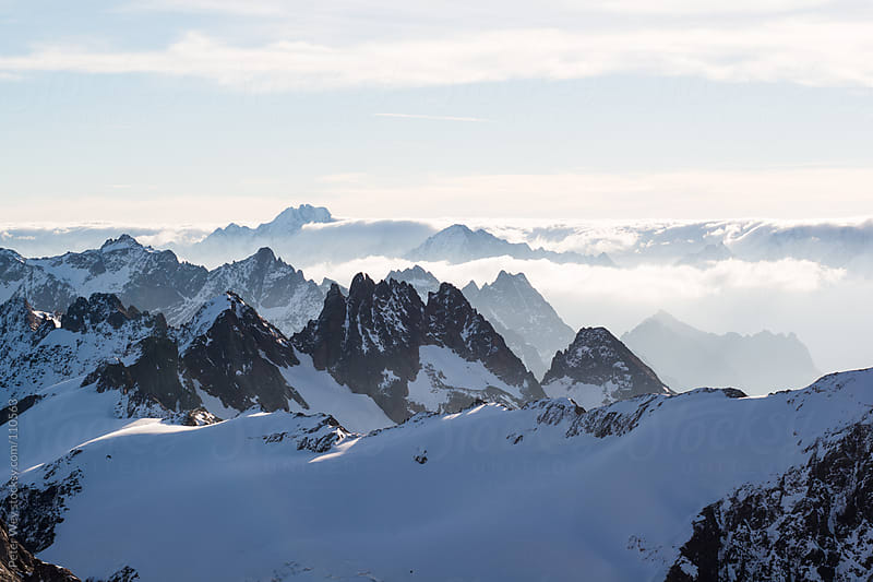 Mountains from Titlis by Peter Wey for Stocksy United