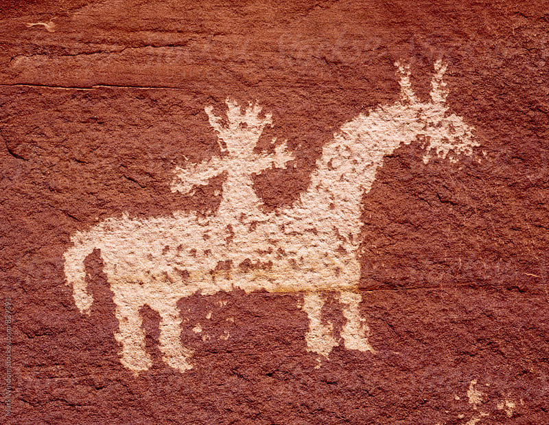 Petroglyph, closeup by Mark Windom for Stocksy United