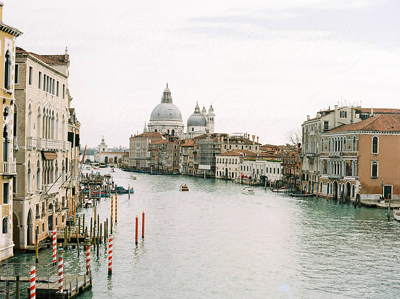 View of the Grand Canal from the Accademia Bridge in Venice by Kirstin Mckee for Stocksy United