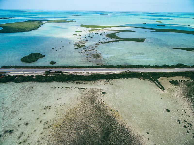 Aerial drone photo of Florida Keys by Jen Grantham for Stocksy United