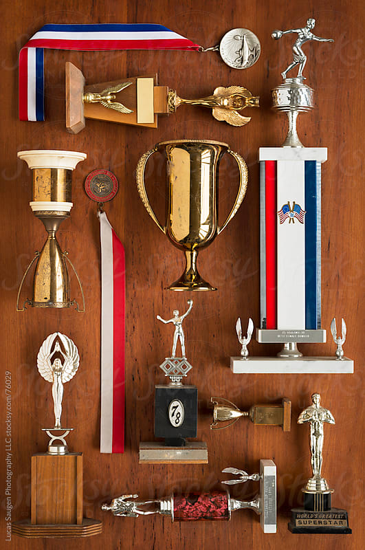 A Bunch of Old Trophies all Knolled Out by Lucas Saugen for Stocksy United