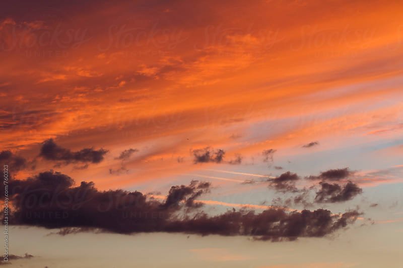 Sunset clouds by Dobránska Renáta for Stocksy United
