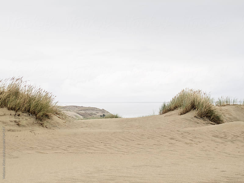 Dunes on a cloudy day by Melanie Kintz for Stocksy United