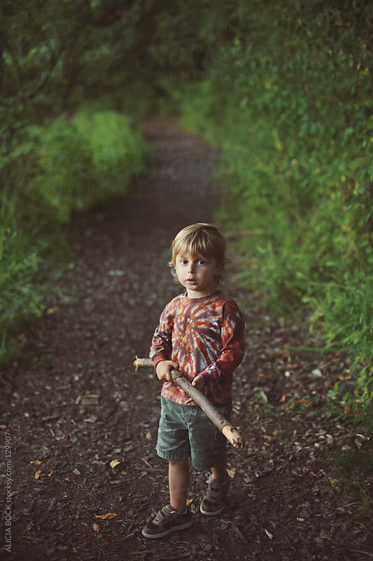 Boy With A Stick #1 by ALICIA BOCK for Stocksy United