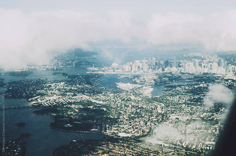 Aerial landscape of Sydney, Australia by Dominique Chapman for Stocksy United