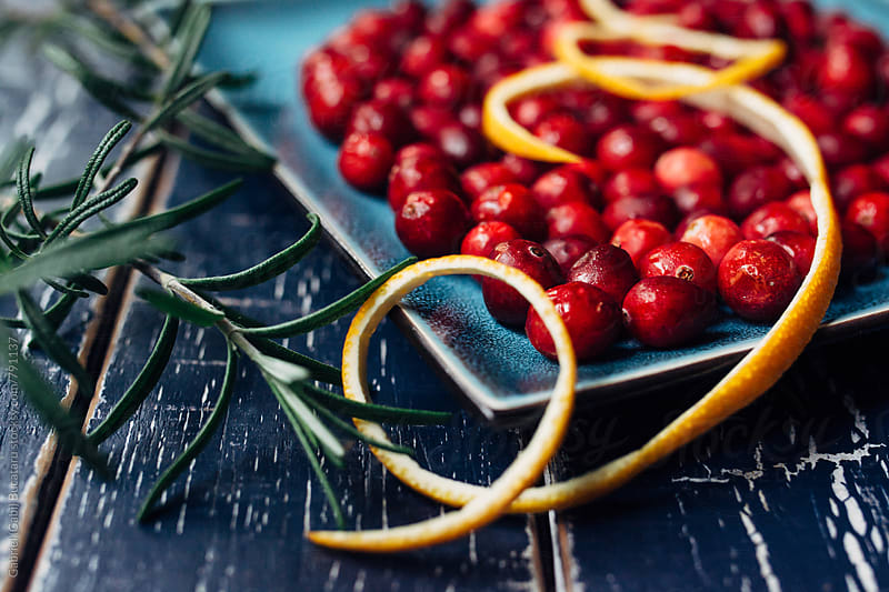 Cranberry and orange peel by Gabriel (Gabi) Bucataru for Stocksy United
