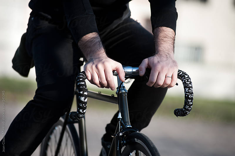 Fixed gear bike by Jean-Claude Manfredi for Stocksy United