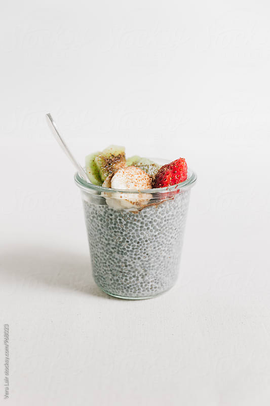 Chia pudding by Vera Lair for Stocksy United