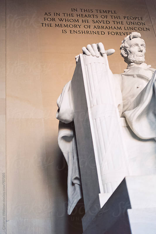 Lincoln Memorial on Film  by Cameron Whitman for Stocksy United