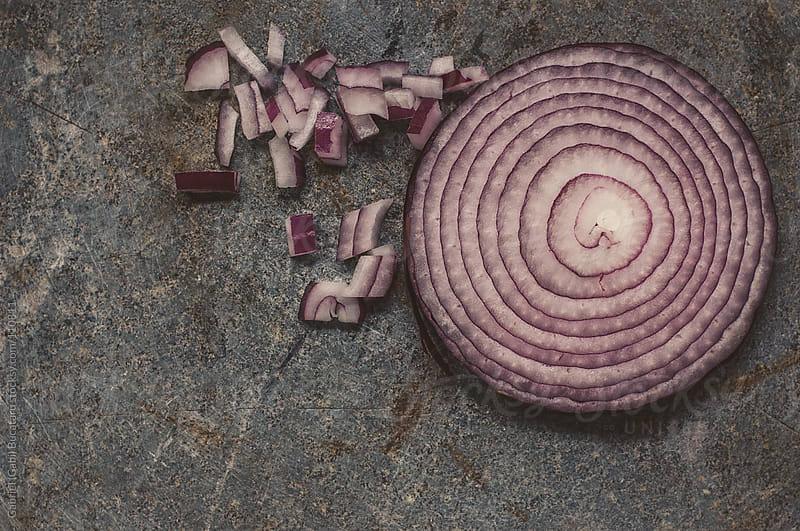 Chopped And Sliced Red Onion by Gabriel (Gabi) Bucataru for Stocksy United