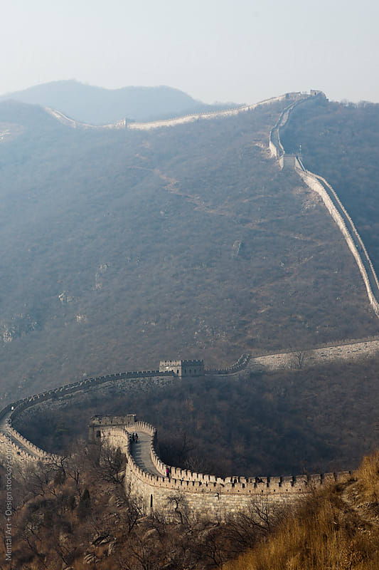 The Great Wall of China. by Mental Art + Design for Stocksy United