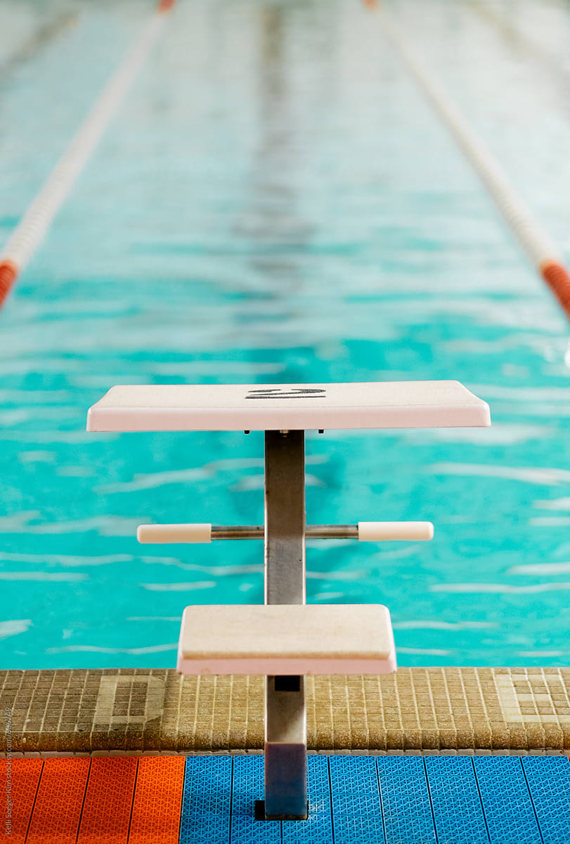 Swimming Pool Diving Board by Kelli Seeger Kim - Stocksy United