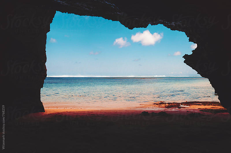 Beach/sea cave by Wizemark for Stocksy United