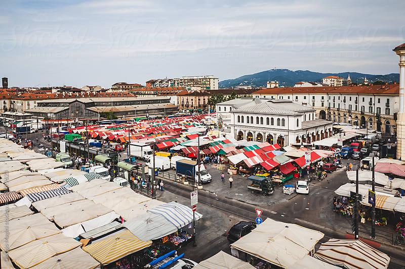 Porta Palazzo Open Market in Turin, Italy by Giorgio Magini for Stocksy United