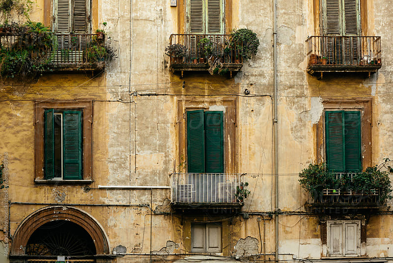 Old facade of an italian building in Naples by Aleksandar Novoselski for Stocksy United