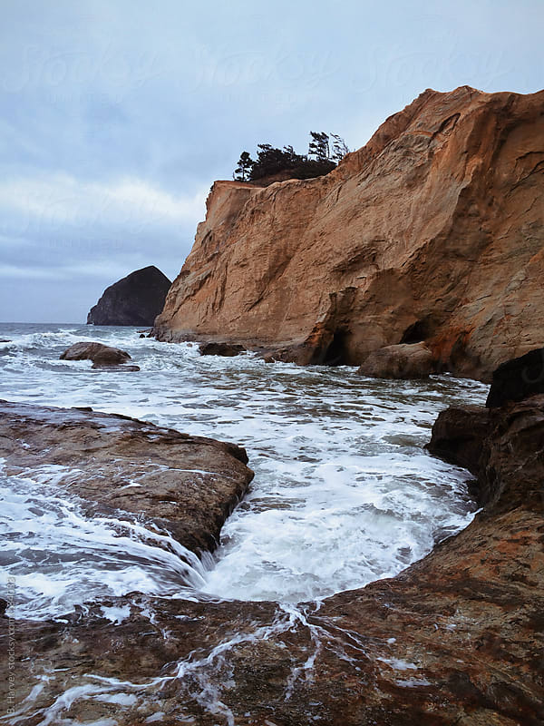 High Tide at Cape Kiwanda in Oregon by B. Harvey for Stocksy United