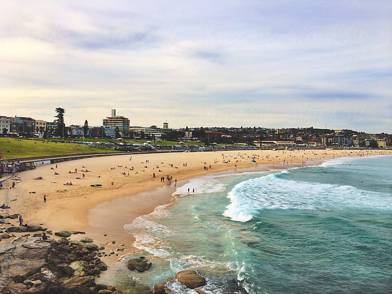 The view over the beautiful Bondi beach by Maximilian Guy McNair MacEwan for Stocksy United