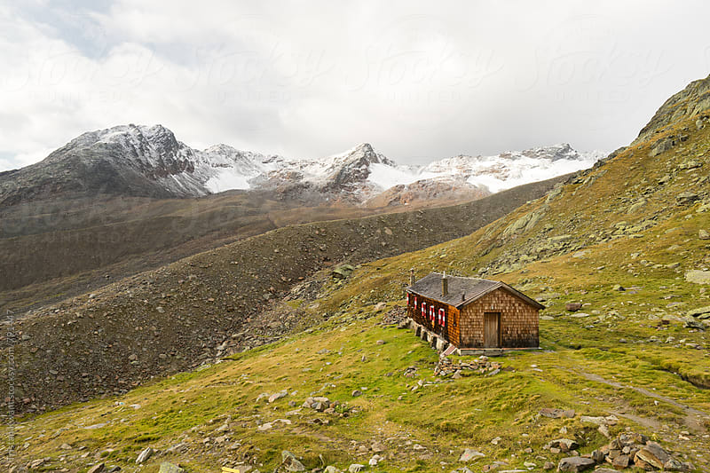Mountain hut in Austria by Tristan Kwant for Stocksy United