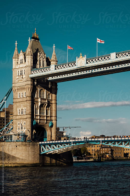 Tower Bridge Crossing the River Thames by Katarina Radovic for Stocksy United