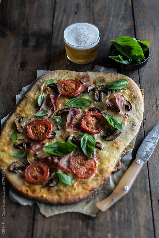 Homemade pizza  by KEMA Food Culture for Stocksy United