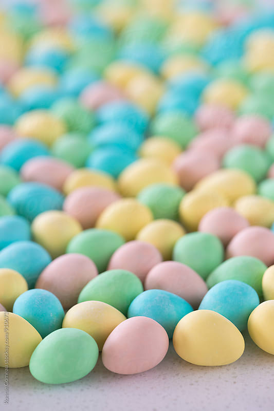 Pastel Easter Eggs by Ronnie Comeau for Stocksy United