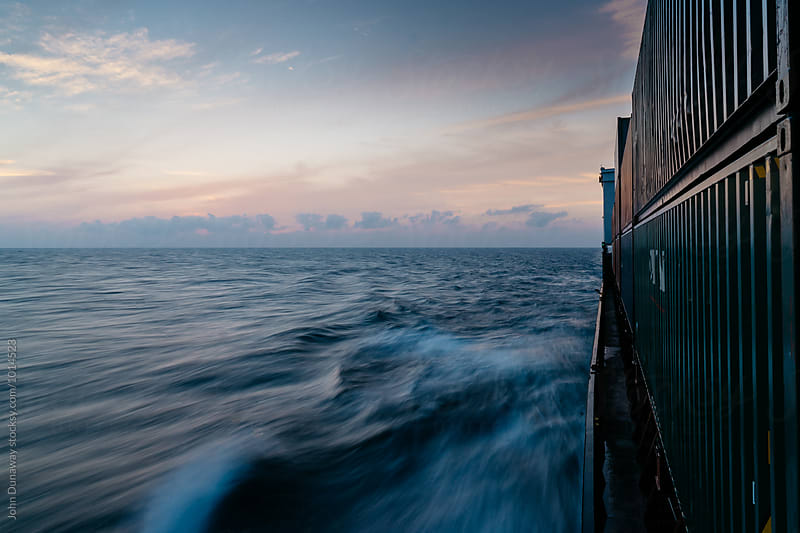 Containership At Sea by John Dunaway for Stocksy United