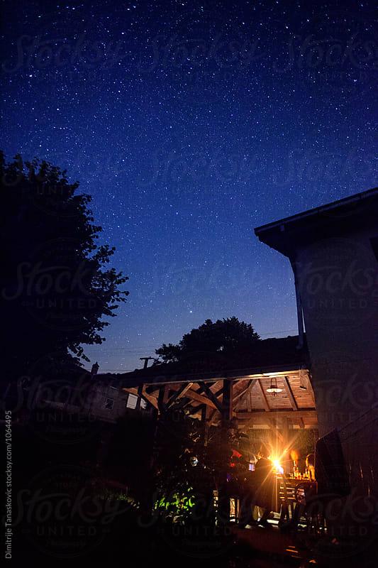 Party under stars by Dimitrije Tanaskovic for Stocksy United